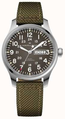 Hamilton Khaki Field Day Date Automatic Canvas Strap H70535081