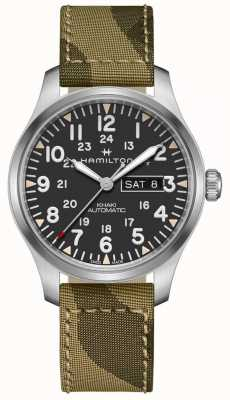 Hamilton Khaki Field Automatic Day Date Canvas Camo Strap H70535031