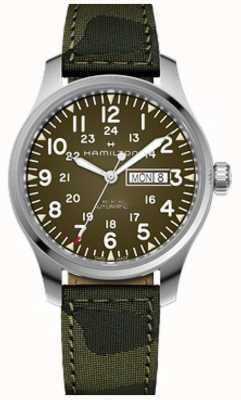 Hamilton Khaki Field Day Date Automatic Dark Canvas Camo Strap H70535061
