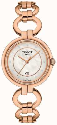 Tissot Womens Flamingo Rose Gold PVD Plated T0942103311601