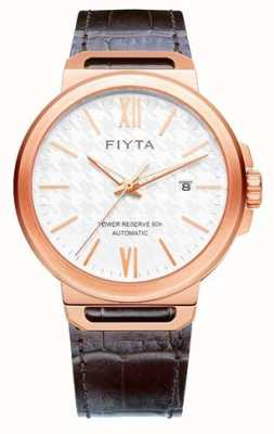 FIYTA Solo Automatic Brown Leather White Dial Sapphire GA852000.PWK