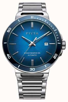 FIYTA Solo Automatic Stainless Steel Blue Dial Sapphire GA852001.WLW
