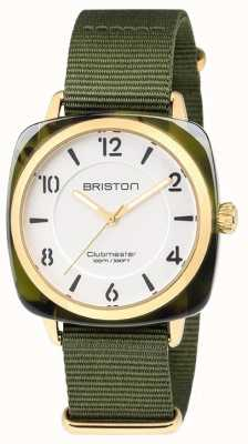 Briston Clubmaster Chic Green Strap White Dial 18536.PYA.TG.2.NGA