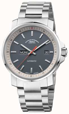 Muhle Glashutte The 29er Tag Datum Stainless Steel Bracelet Grey Dial Watch M1-25-34-MB
