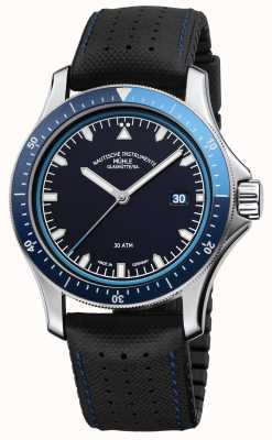 Muhle Glashutte ProMare Go Blue Dial Black Leather/Rubber Strap M1-42-32-NB