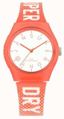 Superdry Womens Urban Festival Glow In The Dark Watch Orange SYL224O