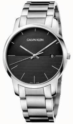 Calvin Klein Mens Stainless Steel Black Dial Watch K2G2G14C