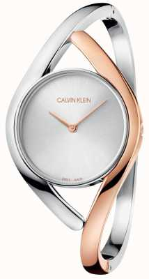 Calvin Klein Ladies Party Two Tone Rose Gold Stainless Steel Watch K8U2SB16