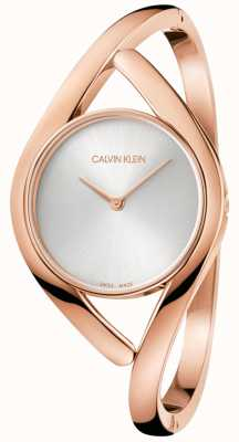 Calvin Klein Ladies Party Rose Gold Stainless Steel Watch K8U2M616