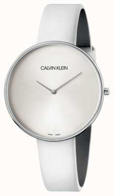 Calvin Klein Ladies White Leather White Dial Watch K8Y231L6