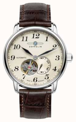 Zeppelin Series LZ127 Automatic Brown Leather Strap 7666-5