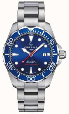 Certina MENS CERTINA DS ACTION DIVER POWERMATIC 80 AUTOMATIC WATCH C0324071104100