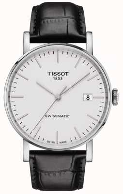 Tissot Mens Everytime Swissmatic Automatic Black Leather Strap T1094071603100