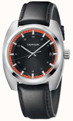 Calvin Klein Men's Achieve Black Leather Strap K8W311C1