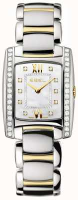 EBEL Women's Brasilia Two Tone 18K Yellow Gold Diamond Set 1215769