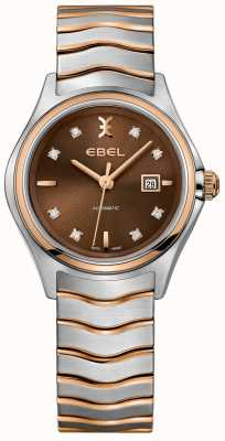 EBEL Women's Automatic Wave Diamond Date Display Hazelnut Dial 1216265