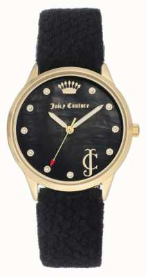 Juicy Couture Womens Black Dial | Black Velvet Strap | Gold Tone Case JC-1060BKBK