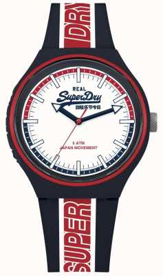 Superdry Urban XL Retro Sport Matt White Dial Navy Strap SYG238UR