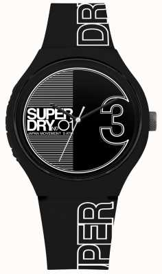 Superdry Urban XL Fusion Matt Black White Print SYG239BW
