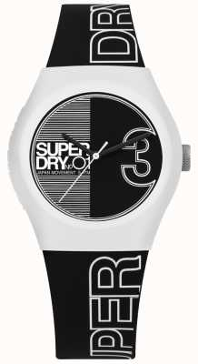 Superdry Urban Fusion Black And White Printed Dial And Strap SYL239BW