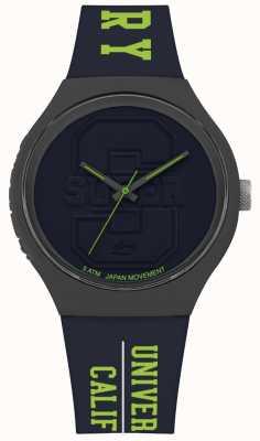 Superdry | Unisex | Urban XL Varsity | Navy Blue Silicone | SYG240UN