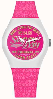 Superdry Urban Paradise Pink Dial And Strap SYL249P