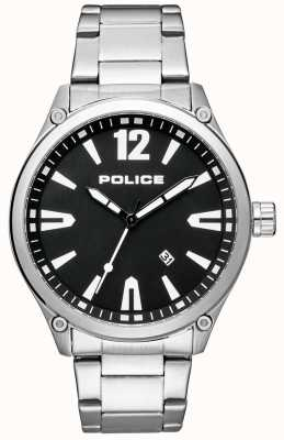 Police Mens Smart Style Stainless Steel Bracelet Black Dial 15244JBS/02M