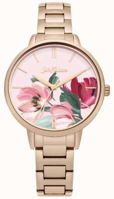 Cath Kidston Womens Rose Gold Tone Bracelet Floral Printed Dial CKL050RGM