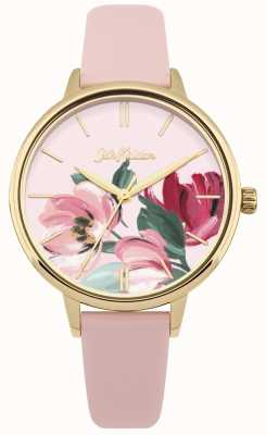 Cath Kidston Womens Pink Strap Watch Floral Dial CKL050PG