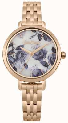 Cath Kidston Womens Rose Gold Tone Bracelet Poppy Print Dial CKL060RGM