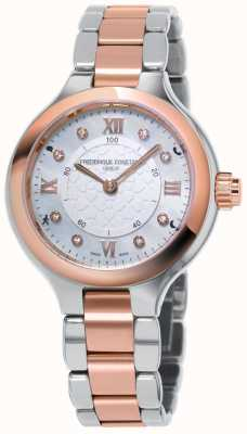 Frederique Constant Women's Horological Smartwatch Delight Two Tone Rose Gold FC-281WHD3ER2B