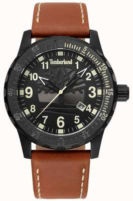Timberland Clarksburg Tan Leather Strap Black Case And Dial TBL.15473JLB/02