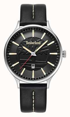 Timberland Mens Marblehead Black Leather Strap Black Dial 15488JS/02