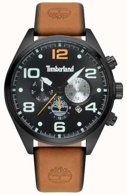 Timberland Mens Whitman Tan Leather Strap Black Case And Dial TBL.15477JSB/02