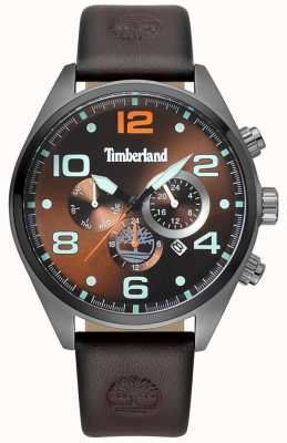 Timberland Mens Whitman Brown Leather Strap Brown Dial TBL.15477JSU/12