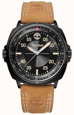 Timberland Mens Williston Tan Leather Strap Black Case And Dial TBL.15516JSB/02