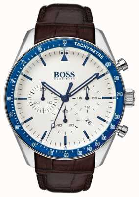 Boss Mens Trophy White Dial 1513629