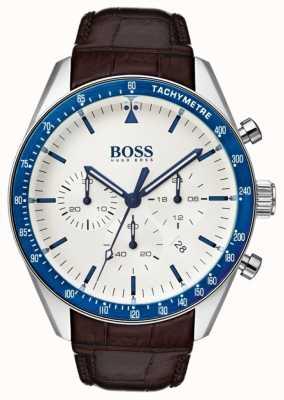 Hugo Boss Mens Trophy White Dial 1513629