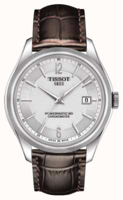 Tissot Ballade Powermatic 80 COSC Chronometer Brown Leather Strap T1084081603700