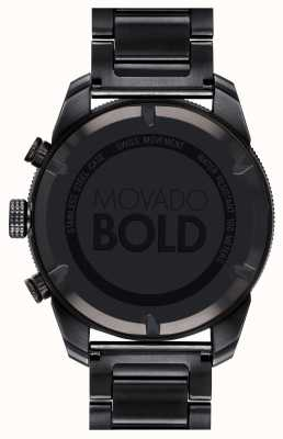 Movado Mens Bold Black IP Plated Sports Chronograph 3600514