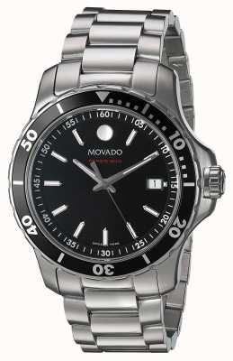 Movado Mens Series 800 Stainless Steel Black Dial 2600135