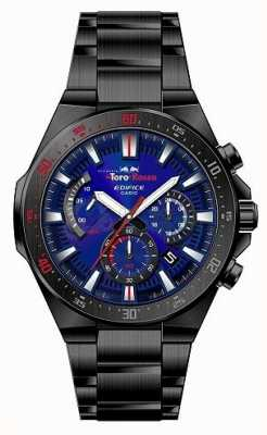 Casio Edifice Toro Rosso Black IP Plated Blue Dial Chrono EFR-563TR-2AER