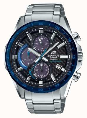 Casio Edifice Black/Blue Carbon Dial Solar Date Chrono EFS-S540DB-1BUEF