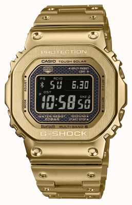 Casio Premium G-Shock Radio Controlled Bluetooth Solar Gold Plated Steel GMW-B5000GD-9ER
