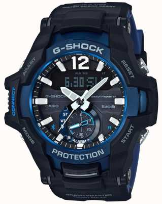 Casio G-Shock Gravitymaster Bluetooth Solar Black/Blue Rubber GR-B100-1A2ER