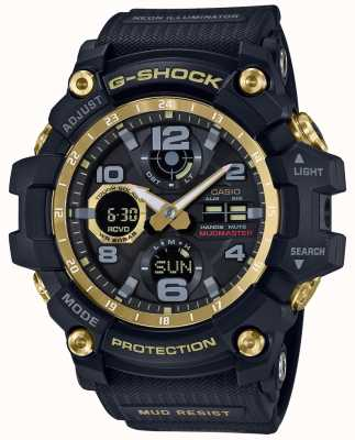Casio G-Shock Radio Controlled Black Gold Rubber Strap GWG-100GB-1AER