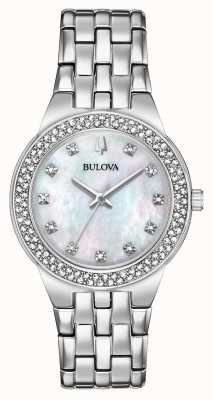 Bulova Women's Crystal Watch And Pendant Gift Set 96X144