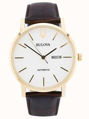 Bulova Men's American Clipper Automatic Gold PVDwatch 97C107