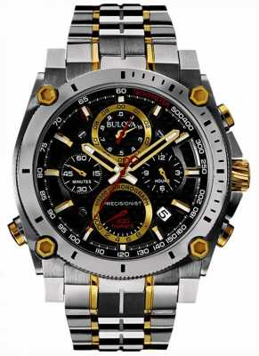 Bulova Men's Precisionist Stainless Steel And Gold Watch 98B228