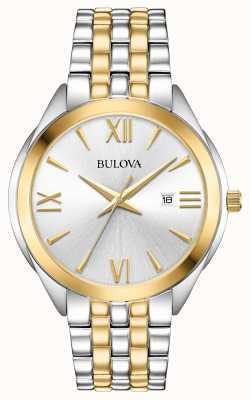 Bulova Men's Two Tone Stainless Steel Watch 98B331